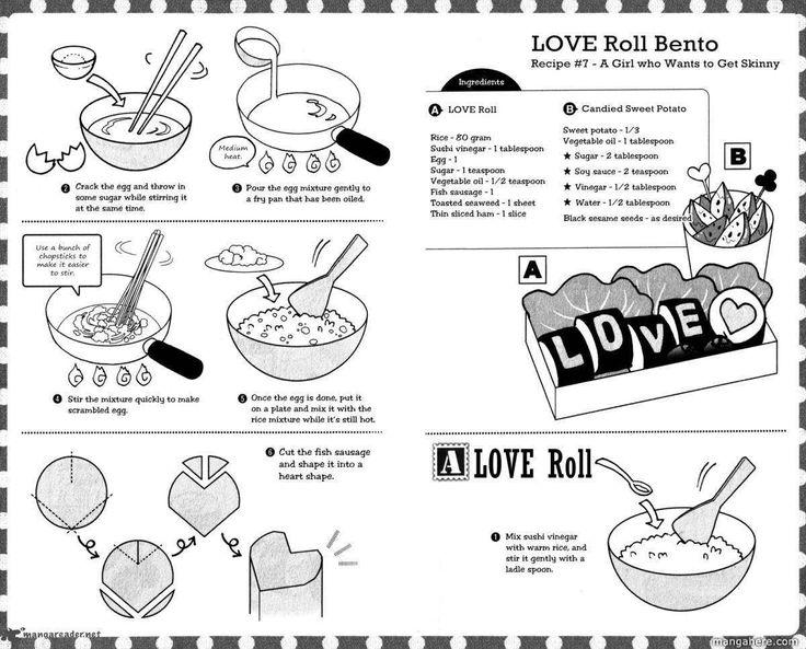 Love Roll, Candied Sweet Potato recipe part 1 - Hatsukoi Lunch Box by Kodaka Nao