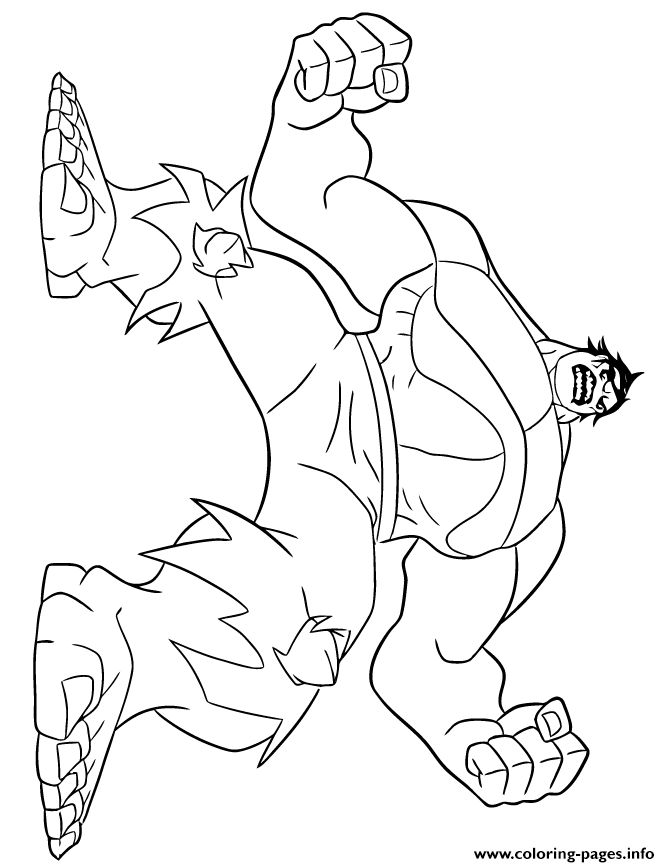 Hulk Coloring Page Avengers