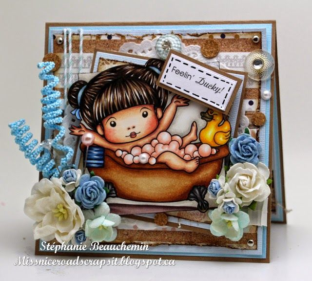A World of Creative Possibilities: Bath Time Marci (with sentiment)