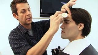 Twilight Makeup Tutorial - Edward Cullen Vampire Make-up Tutorial, via YouTube.