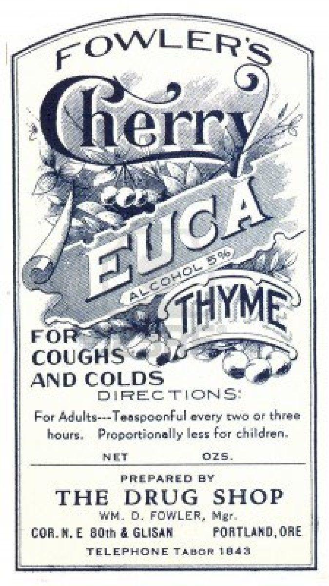Vintage Label For Medicine
