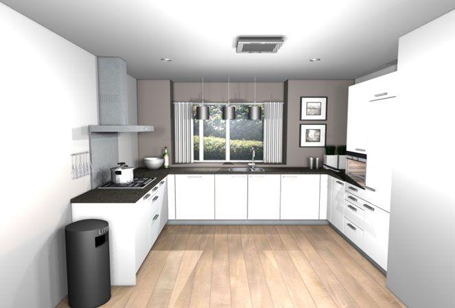 Opstelling met hoge kasten keuken pinterest kitchens - Keuken m ...