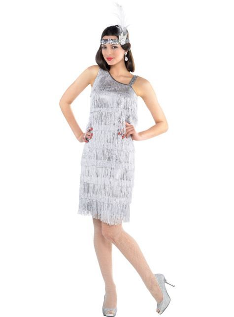 teen girls all that jazz flapper costume party city flapper girl costume - All Halloween Costumes Party City