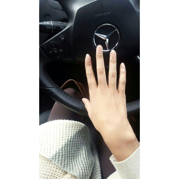 Girl driving Mercedes Benz