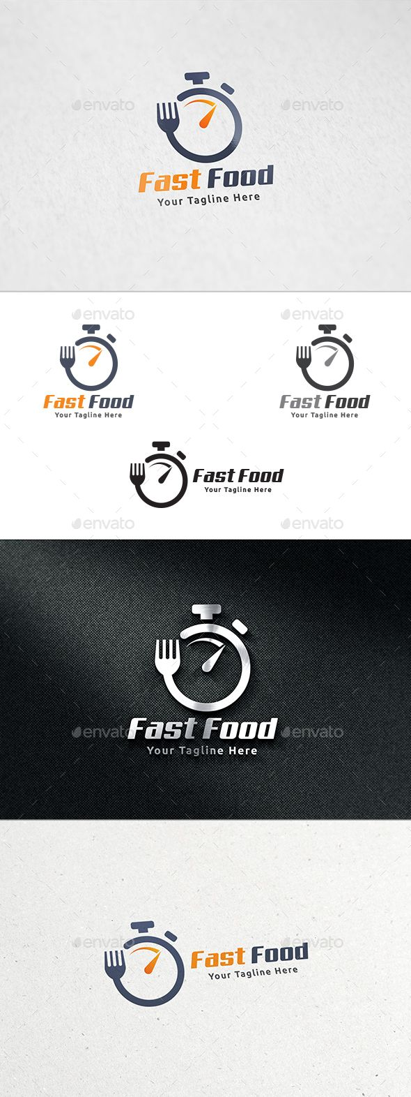 Fast Food Logo Design Template Vector #logotype Download it here: http://graphicriver.net/item/fast-food-logo/13024811?s_rank=206?ref=nexion                                                                                                                                                                                 More