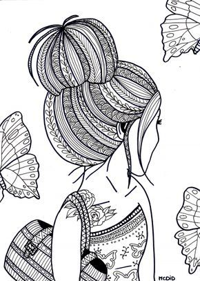 25 unique Coloring pages for girls ideas on Pinterest
