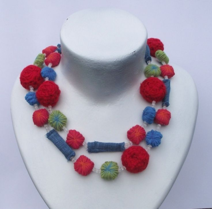 Handmade Textile Jewellry available from : www.annmack.co.za Made in South Africa