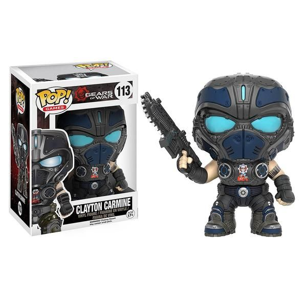 This is a Funko Gears Of War POP Clayton Carmine Vinyl Figure. It's produced by those awesome people at Funko. Just look at the detail on this figure! What a co