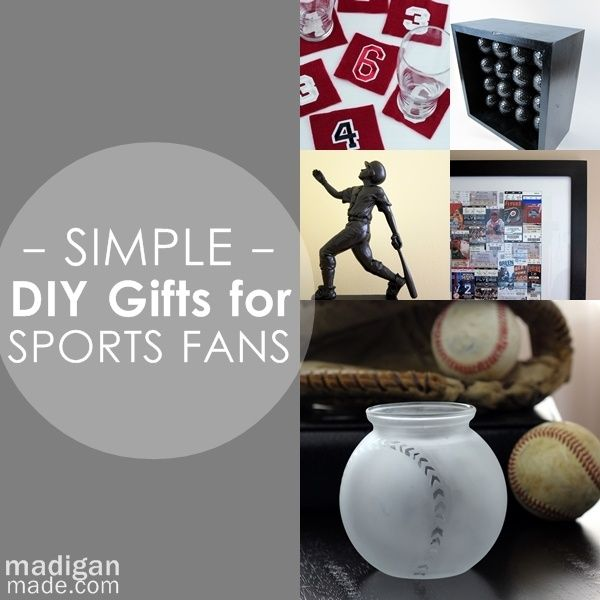 Over 25 gift ideas to make for a sports fan. Perfect!
