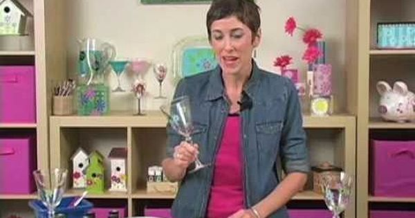 YouTube-- how to use acrylic paint on glass   Art Lessons Paint Acrylic   Pinterest   Acrylics, Videos and Glasses