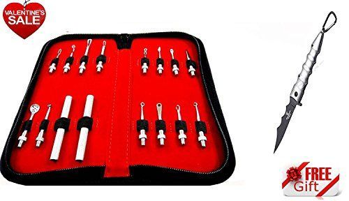 Professional Blackhead Remover  Cleaner  Comedone Extractor Skin Care Deluxe 8 Piece Kit  Free Pen Style Folding Pocket knife -- Want additional info? Click on the image.