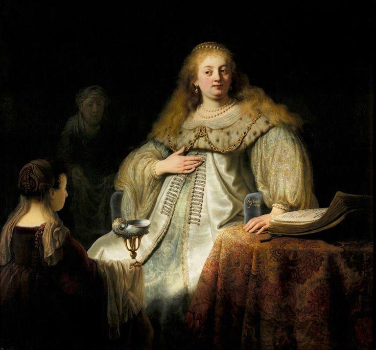 Rembrandt-Giuditta al banchetto di Oloferne,1634-Madrid, Prado