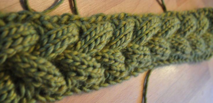 strikke lang flette