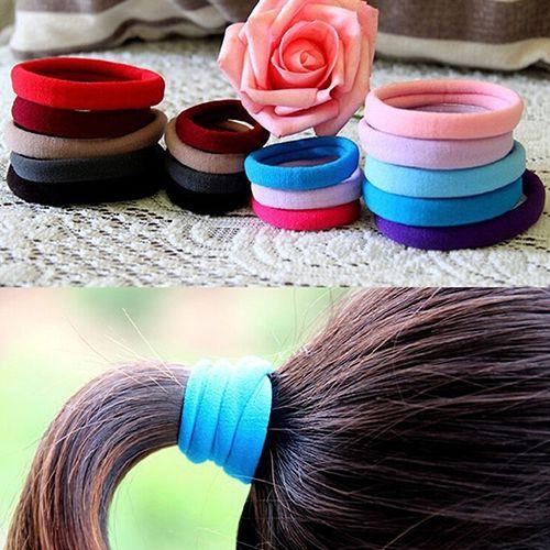 2016 10Pcs Seamless Elastic Rope Hairband Hair Band Ponytail Holder Bracelets Scrunchie  6YI9