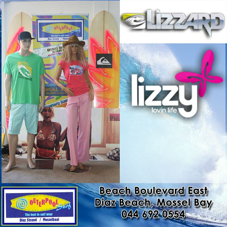 Lizzy for the ladies and Lizzard for the men. So come and visit our stores. #lizzy #lizzard