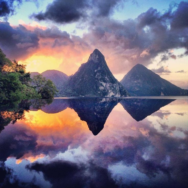 Jade Mountain, St. Lucia ~ Clouds are such wonderful things aren't they...?