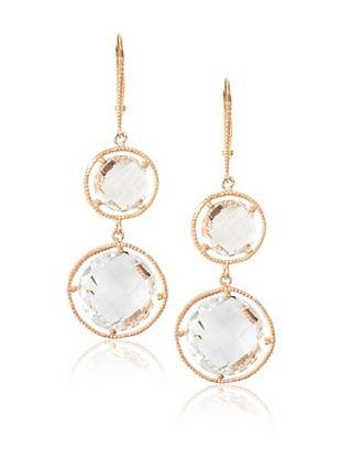 Montage Jewelry Double Dangle Quartz Leverback Earrings