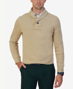 Nautica Men's Shawl-Collar Sweater - Brown XXL