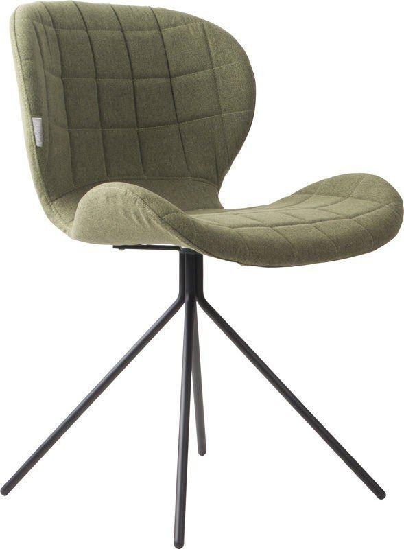 OMG+Spisebordsstol+-+Grøn+-+Denne+lækre+spisebordsstol+har+et+sæde+fremstillet+i+krydsfiner+med+et+polstret+betræk,+samt+sort+pulverlakeret+stål+stel.+Her+er+der+især+tale+om+en+stol+der+mikser+flot+design,+med+fantastisk+komfort.+Derudover+findes+stolen+i+hele+seks+forskellige+farver.