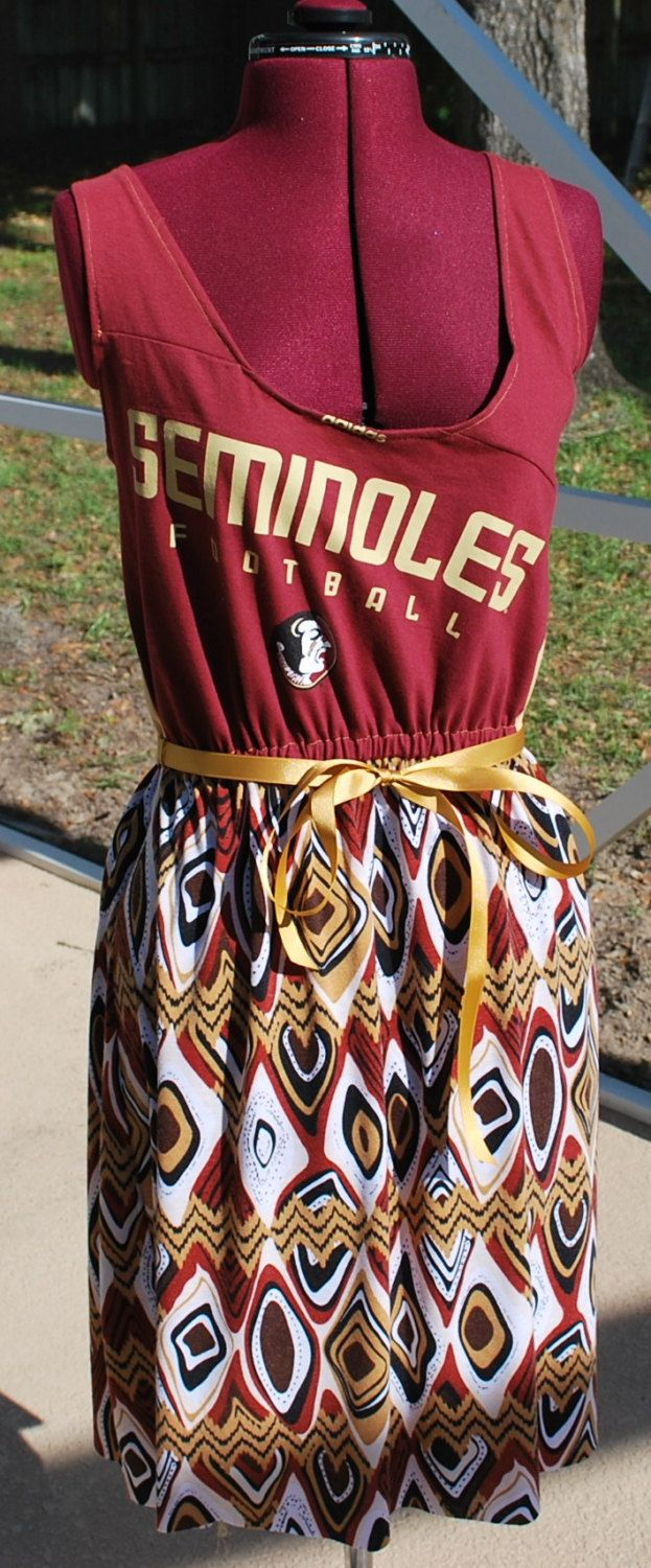 Florida State FSU Noles Seminoles Game Day by gamedaychicflorida, $47.50.....I LOVE this dress !