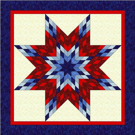 Quilting Pattern For Lone Star : ROY-G-BIV Lone Star Quilt Pattern - PDF - Rainbow Star Quilt Pattern - Quilting Pattern ...