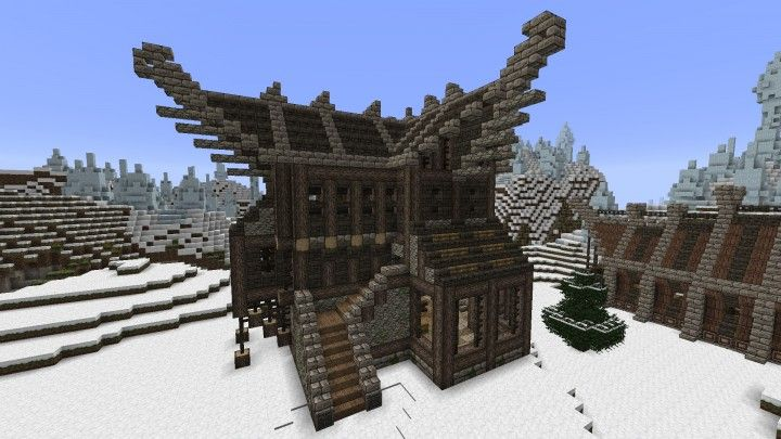 Large Viking  Nordic House Minecraft Project