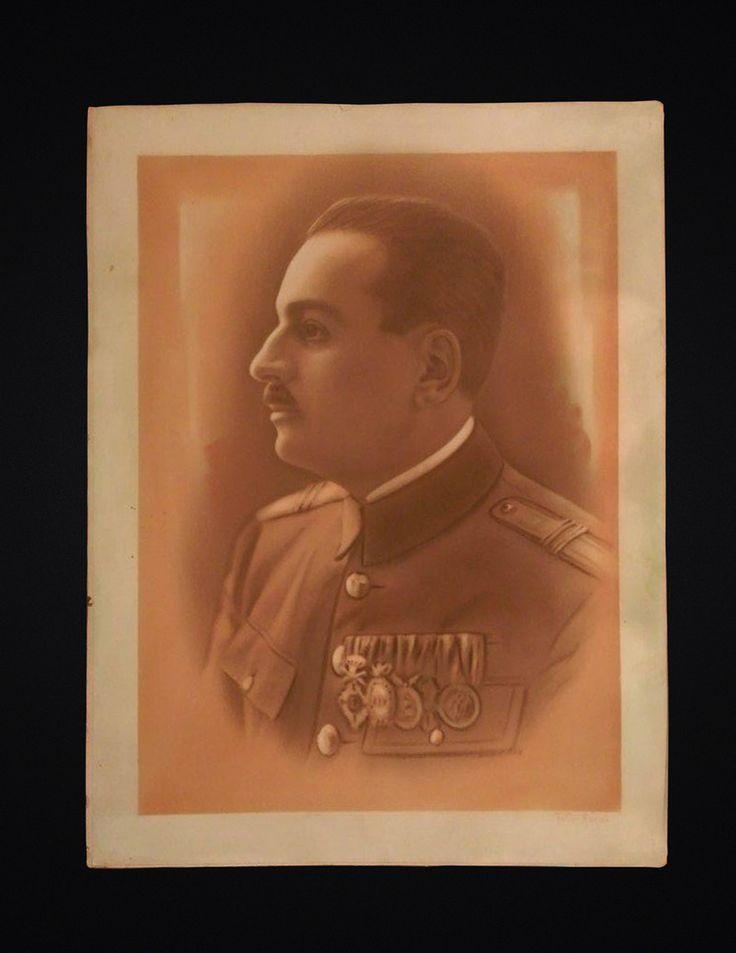 BIG SOLDIER PORTRAIT, First World War PHOTO, sepia,1929, WW1 DECORATED SOLDIER