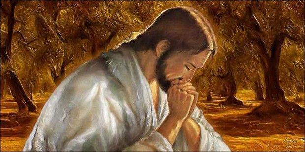 Capezzale moderno Gesù nell'Uliveto - Quadro canvas Sacro - Spidersell Italia   Decorazione creativa