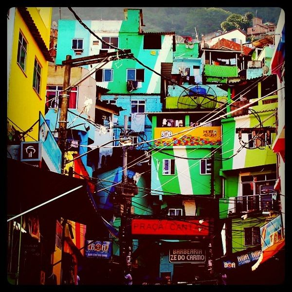Favela Painting - Rio de Janeiro, Brazil