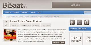 BiSaat V1 Wordpress Teması