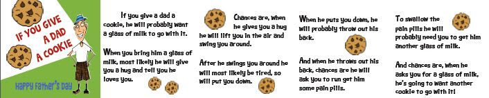 If you give a dad a cookie....