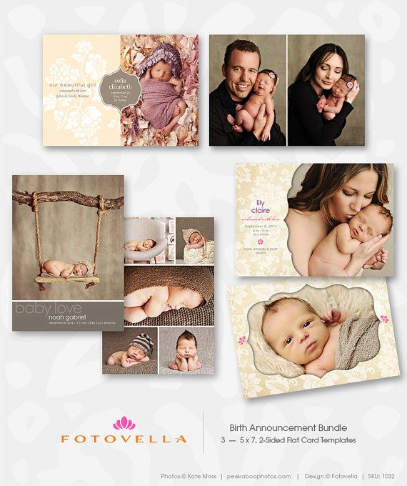 35 best Birth Announcement Templates images – Birth Announcement Photoshop Template