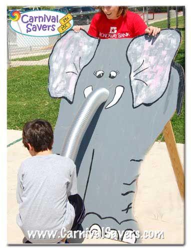 Feed The Elephant carnival game idea!