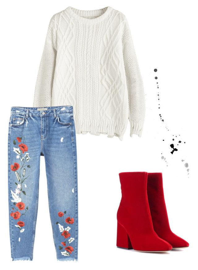 """""""Red and white."""" by djamilladjamilla on Polyvore featuring mode, MANGO en Maison Margiela"""