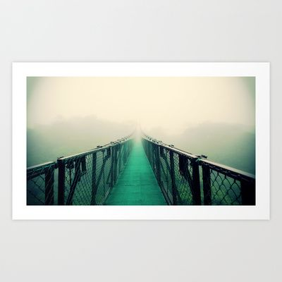 suspension bridge Art Print by Sookie Endo