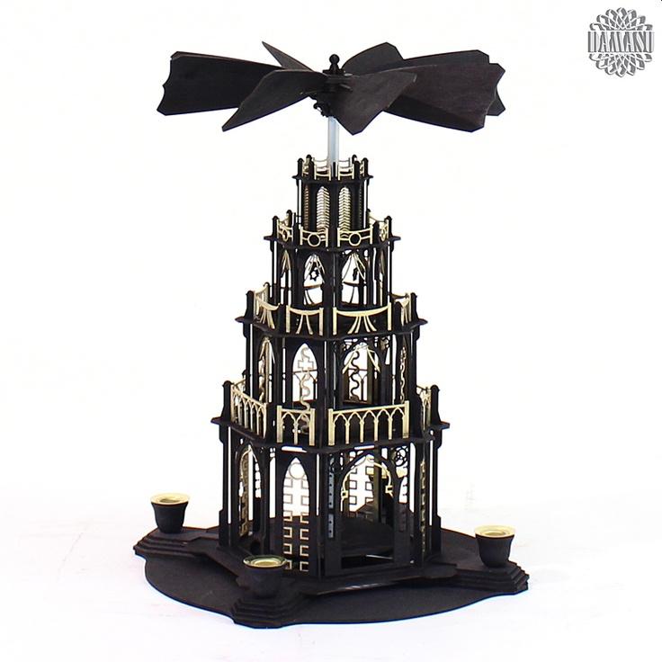 Ein Meisterstück zum selber bauen!  Unsere gotischen Weihnachtspyramiden gibt es jetzt auch als Selbstbausatz. Das gotische Bauwerk mit Figurentellern und dem raffinierten automatischen Flügelrad ist eine echte Herausforderung. Aber an Aufgaben kann man wachsen und wir helfen gern (0173 3666 223).  Alle Holzteile sind schwarz gebeizt o... DAMASU - Holzkunst aus dem Erzgebirge, www.damasu.de, 01733666223 http://www.damasu.de/ART_BS_PYG3SG BAUSATZ GOTISCHE PYRAMIDE 3STOECKIG SCHWARZ GOLD.PHP
