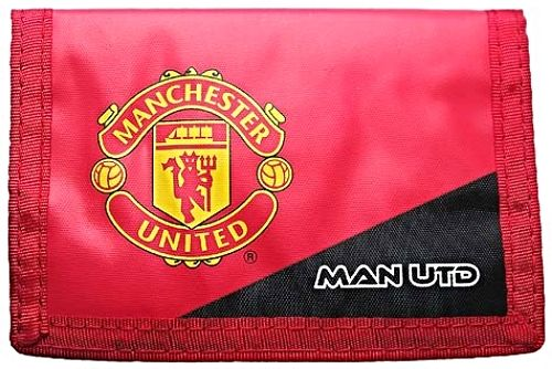 Manchester United Official MAN UTD Red Wallet with Club Crest