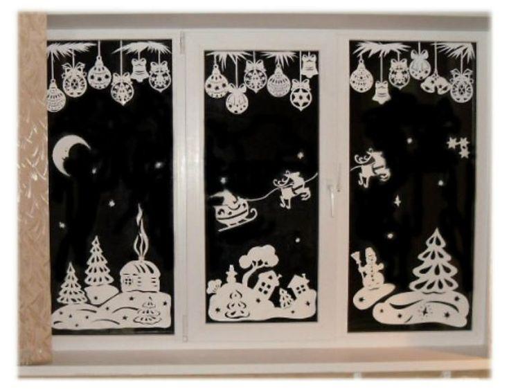 как украсить окна к новому году - Самое интересное в блогах