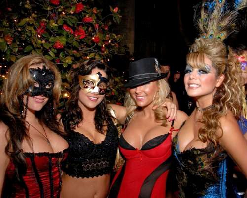 Fantastic Halloween Masquerade Masks, playgirls going to a masquerade party
