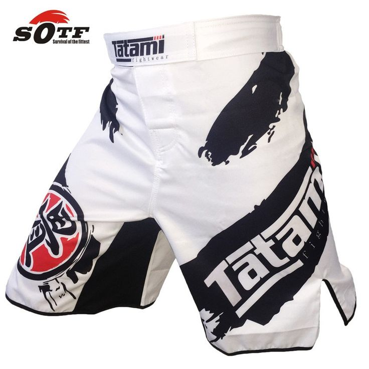 MMA Short SOTF Black and White Ink Personalized Sports Training and Competition Without Rules Boxer Shorts Muay Thai Clothing