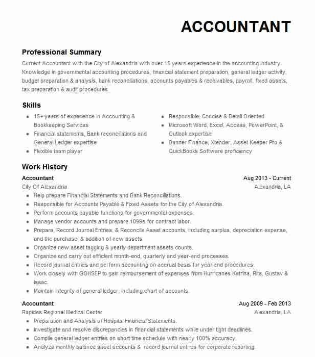 31 Accounting Resume Skills List Di 2020