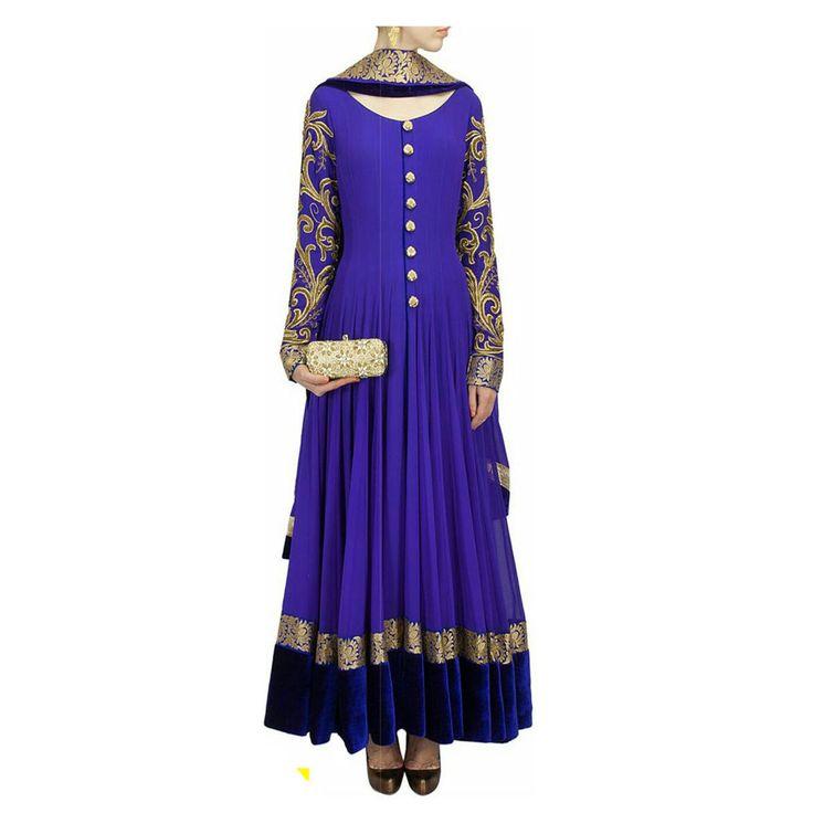 SF NewBollywood Indian Ethnic Designer Pakistani Anarkali Party Wear Salwar Suit #Lookbollywood #BollywoodSalwarKameez
