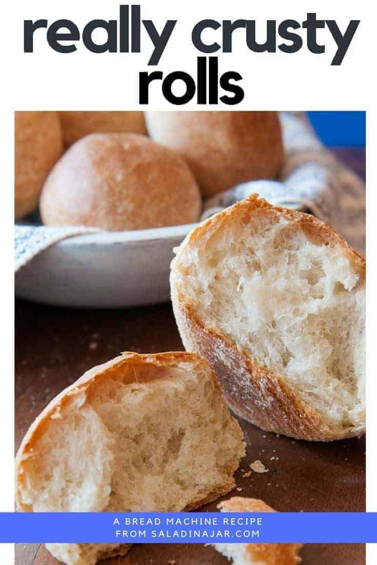 Really Crusty Dinner Rolls From Your Bread Machine Recipe