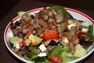 Hydromel et Ambroisie: Salade de coeurs de poulet, vinaigrette balsamique-érable