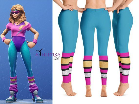 1c043bba4 Aerobic Assassin Fortnite Battle Royale Adult Leggings Cosplay Costume  Outfit Video Game Dancer Set Swimsuit Party 80s Gym Goer Festival Etsy  AthletikaGIrl ...
