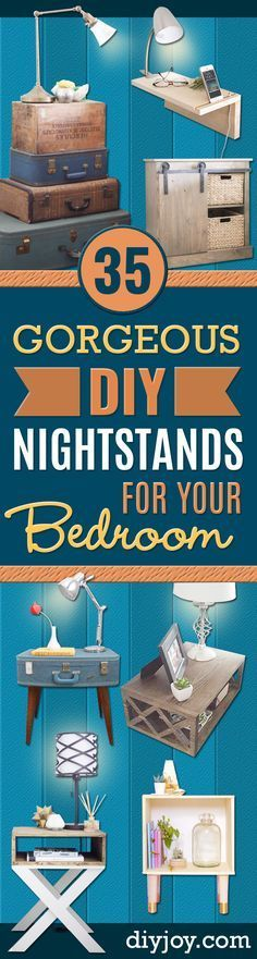 DIY Nightstands for the Bedroom – Easy Do It Yourself Bedside Tables and Furnitu…
