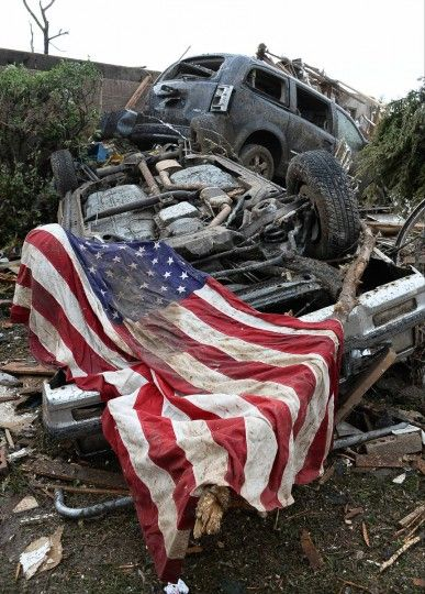 We are strong we are courageous we help those in need we might have many trials by living in Moore but praise God Moore people help our own even when tragedy strikes you can depend on one another