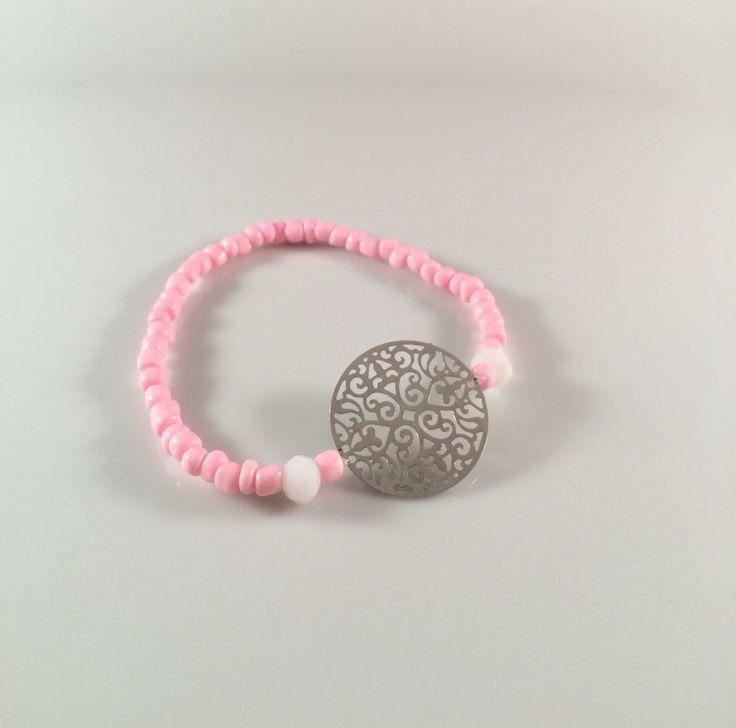 NEW | <3 dit super leuke silver pink Ibiza armbandje | vanaf nu te bestellen voor € 5,00 per stuk