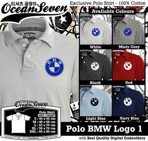 Baju Kaos Polo BMW Logo 1