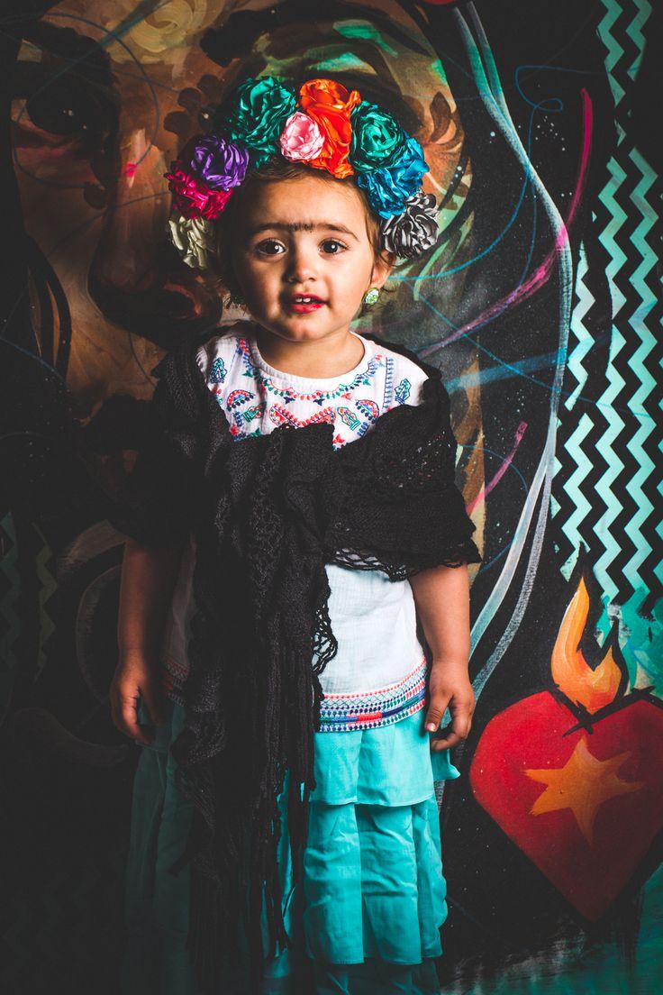 FRIDA KAHLO CUSTOME FOR LITTLE KIDS  #fridakahlo
